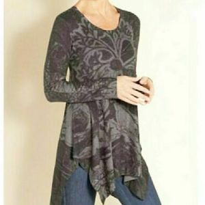 Soft Surroundings Renaissance Grey Tunic Top